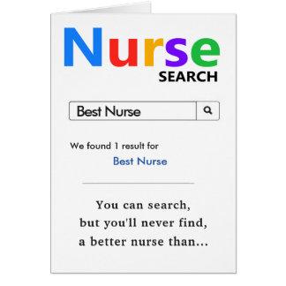 Cartão Melhor presente engraçado da enfermeira