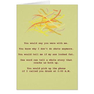 Cartão Melhores amigos