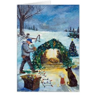 Cartão Memórias do Natal