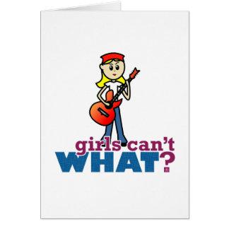 Cartão Menina da guitarra