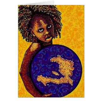 Cartão Menina de Haiti