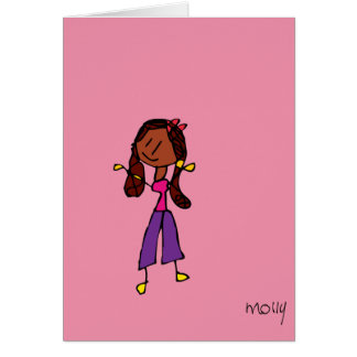 Cartão Menina de Playdate