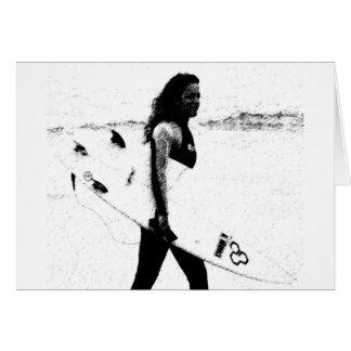 Cartão Menina do surf