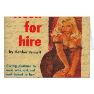 Cartão Menina do vintage