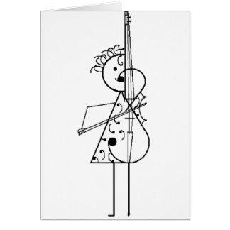 Cartão Menina do violoncelo
