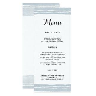 Cartão Menu moderno do casamento da aguarela