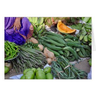 Cartão Mercado do vegetal do Tamil Nadu