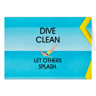 Cartão Mergulho SUPERIOR limpo