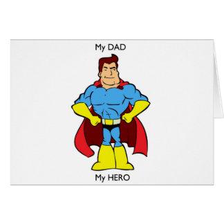 Cartão Meu pai meu super-herói do herói