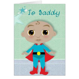 Cartão Meus pais um super-herói!