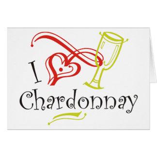 Cartão Mim coração Chardonnay