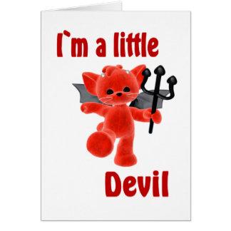 Cartão Mim ` m um diabo pequeno