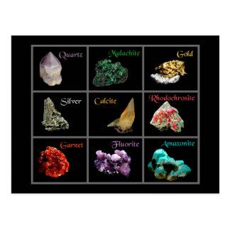 Cartão mineral da coleção