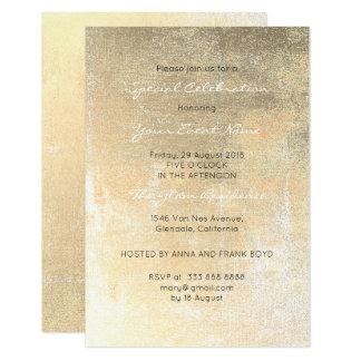 Cartão Mínimo metálico branco do Sepia sujo do ouro do