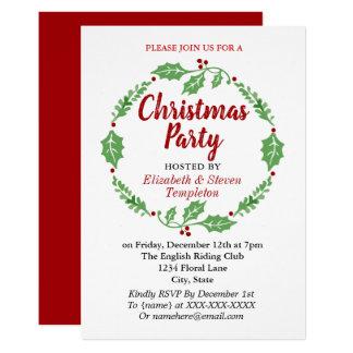 Cartão moderno da grinalda da festa natalícia do
