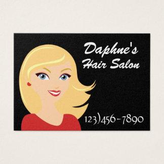 Cartão moderno da nomeação do salão de beleza da