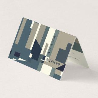 Cartão moderno da referência