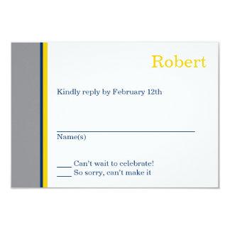 Cartão moderno da resposta de Mitzvah do bar da Convite 8.89 X 12.7cm