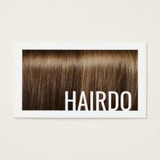 Cartão moderno do fundo do cabelo de Brown do