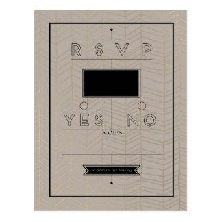 Cartão moderno rústico de RSVP