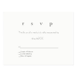 Cartão modernos simples do casamento do rsvp