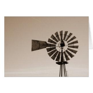 Cartão Moinho de vento do metal