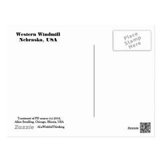 Cartão - moinho de vento ocidental (dia) cartão postal