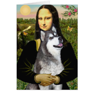 Cartão Mona Lisa - Malamute do Alasca