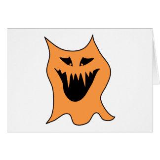 Cartão Monstro alaranjado