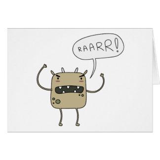 Cartão Monstro assustador