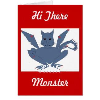 Cartão Monstro bonito