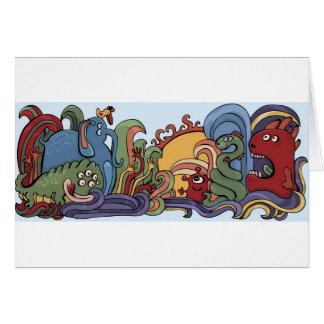 Cartão Monstro bonitos no mundo estranho