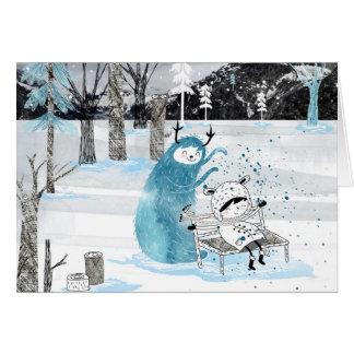 Cartão Monstro da neve
