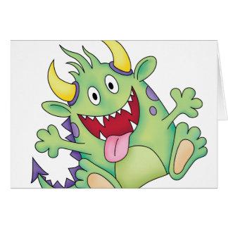 Cartão monstro feliz bonito