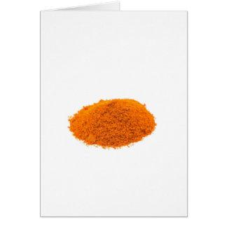Cartão Montão do pó da pimenta de caiena da especiaria no