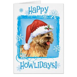 Cartão Monte de pedras feliz Terrier de Howlidays