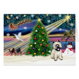 Cartão Monte de pedras mágico Terrier 5 do Natal