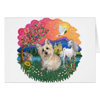 Cartão Monte de pedras Terrier (3 wheaten)