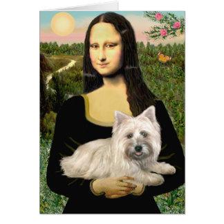 Cartão Monte de pedras Terrier 4 - Mona Lisa
