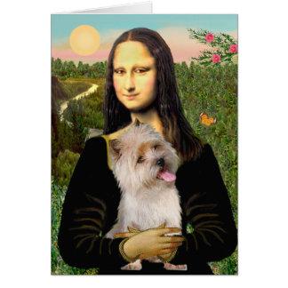 Cartão Monte de pedras Terrier 9 - Mona Lisa