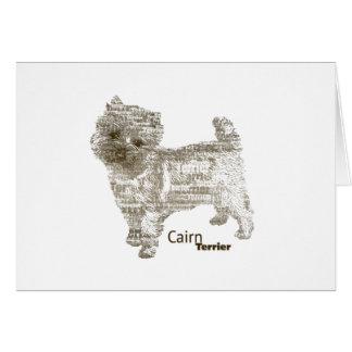 Cartão Monte de pedras Terrier ---  - TypoDoggies