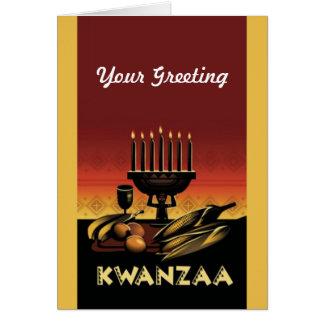 Cartão Morre o feriado Notecards de Kwanzaa do nag do
