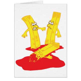 Cartão Morte da fritada