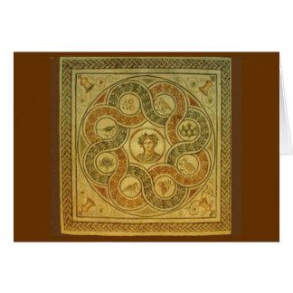 Cartão Mosaico romano no vaticano
