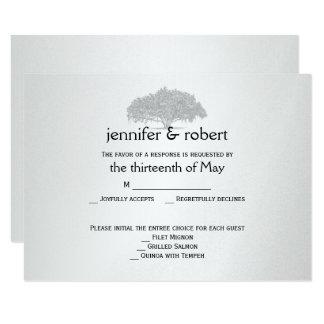Cartão Mossy de prata cinzento amarelo da resposta Convite 8.89 X 12.7cm