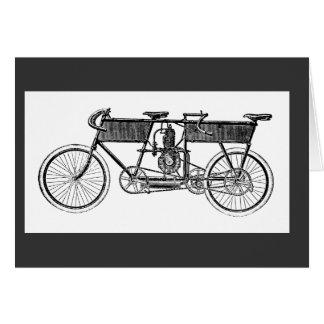 Cartão Motocicleta do Victorian do vintage