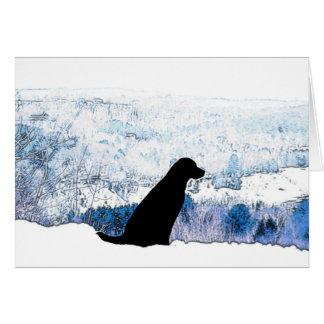 Cartão Mountain View Labradors preto