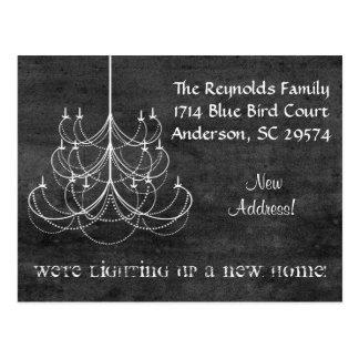 Cartão movente do endereço novo do candelabro do