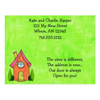 Cartão movente do verde limão formal e do endereço
