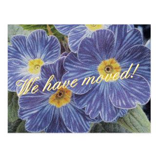 Cartão moventes com design azul da flor